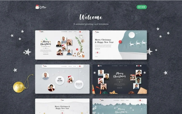 Gifter - Greeting Card HTML Landing Page Template