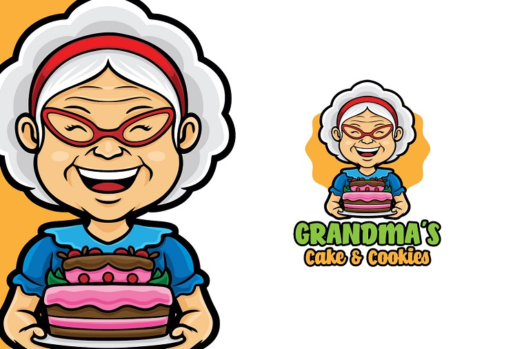 Charming Grandma Cake