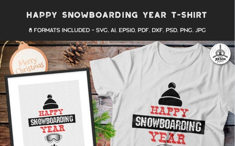 Happy Snowboarding Year T-shirt.