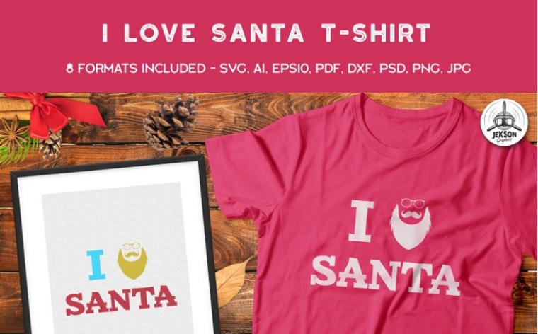 I Love Santa T-shirt.