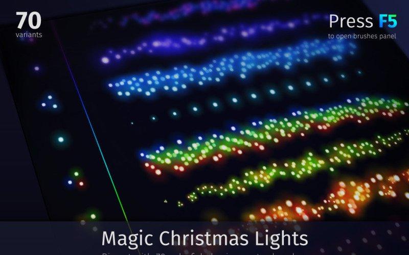 Magic Christmas Lights Vector