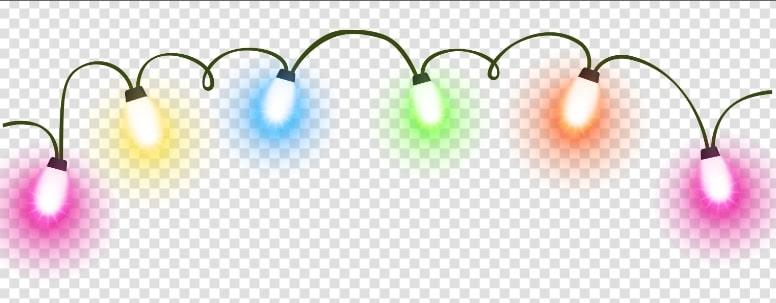 Neon Hanging Christmas Lights