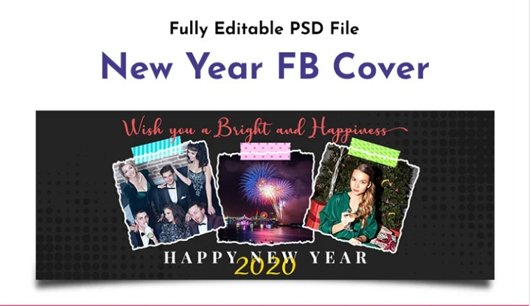 New Year FB Cover Social Media