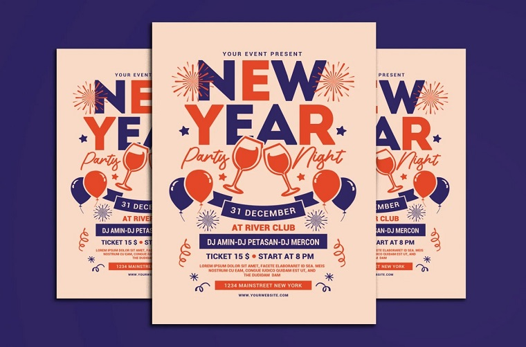 New Year Party Night Corporate Identity Template