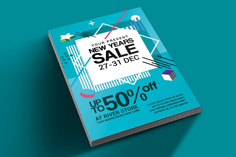 New Year Sale Flyer Corporate Identity Template