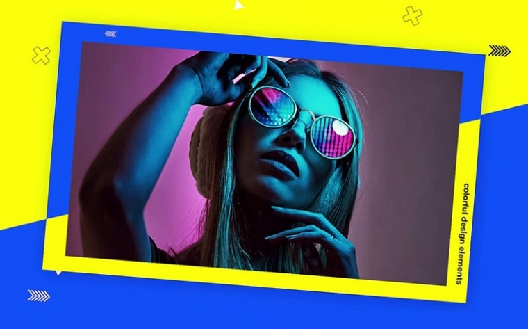 Neon Pop-Art After Effects Slideshow Theme