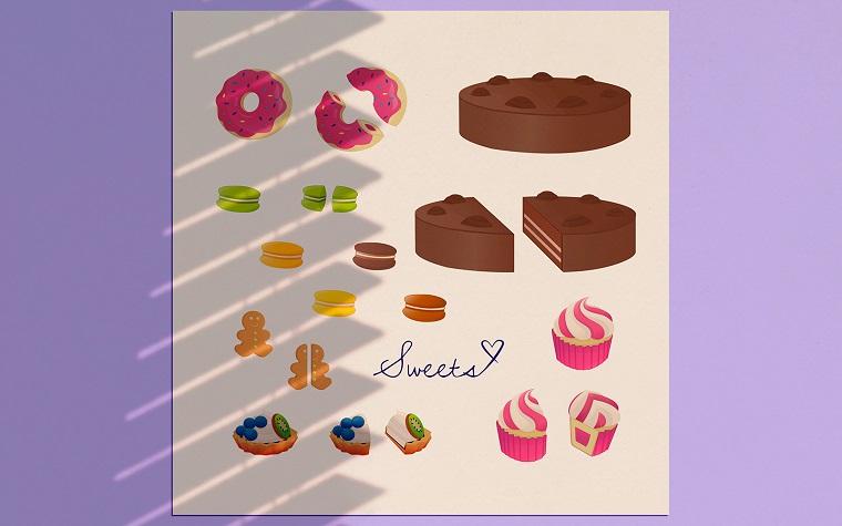 Sweets Vector Set