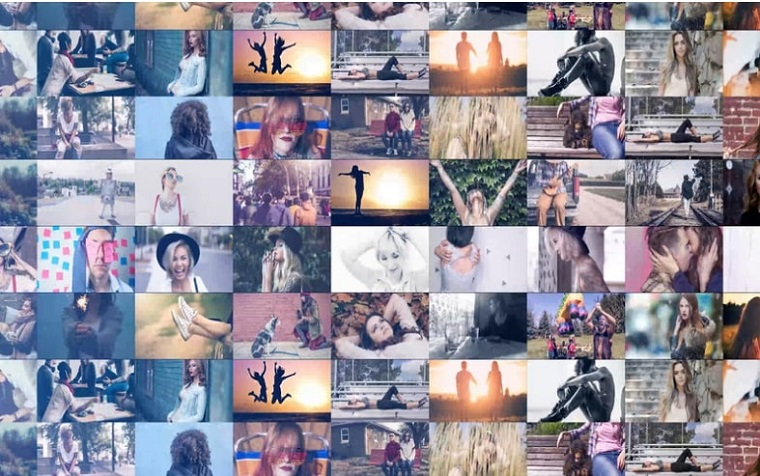 Trendy Mosaic Slideshow After Effects Template