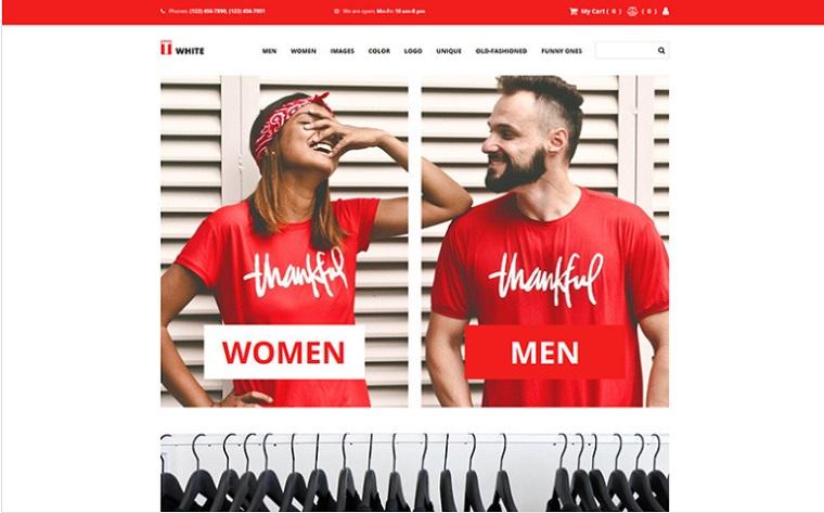 T-shirt online store.