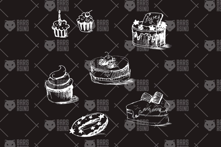 Tasty Cakes Sketches Template