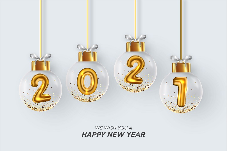 We wish you a happy new year card.