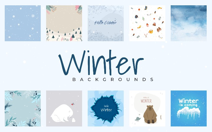 Winter Patterns Backgrounds