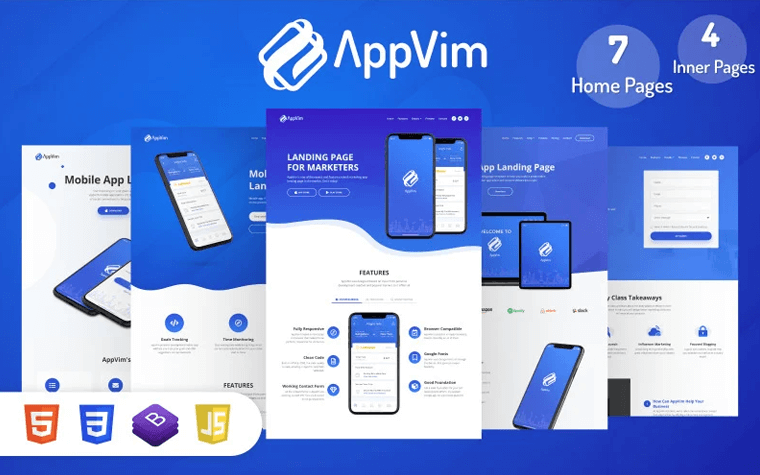 AppVim - App Landing Page Template