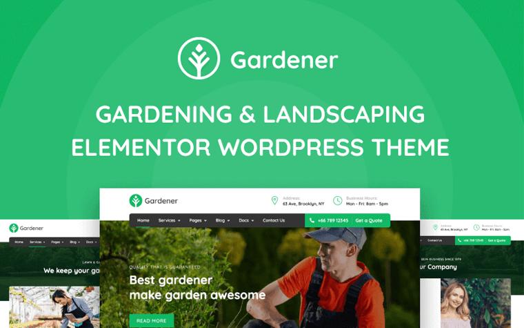 Gardener - Gardening and Landscaping Elementor WordPress Theme