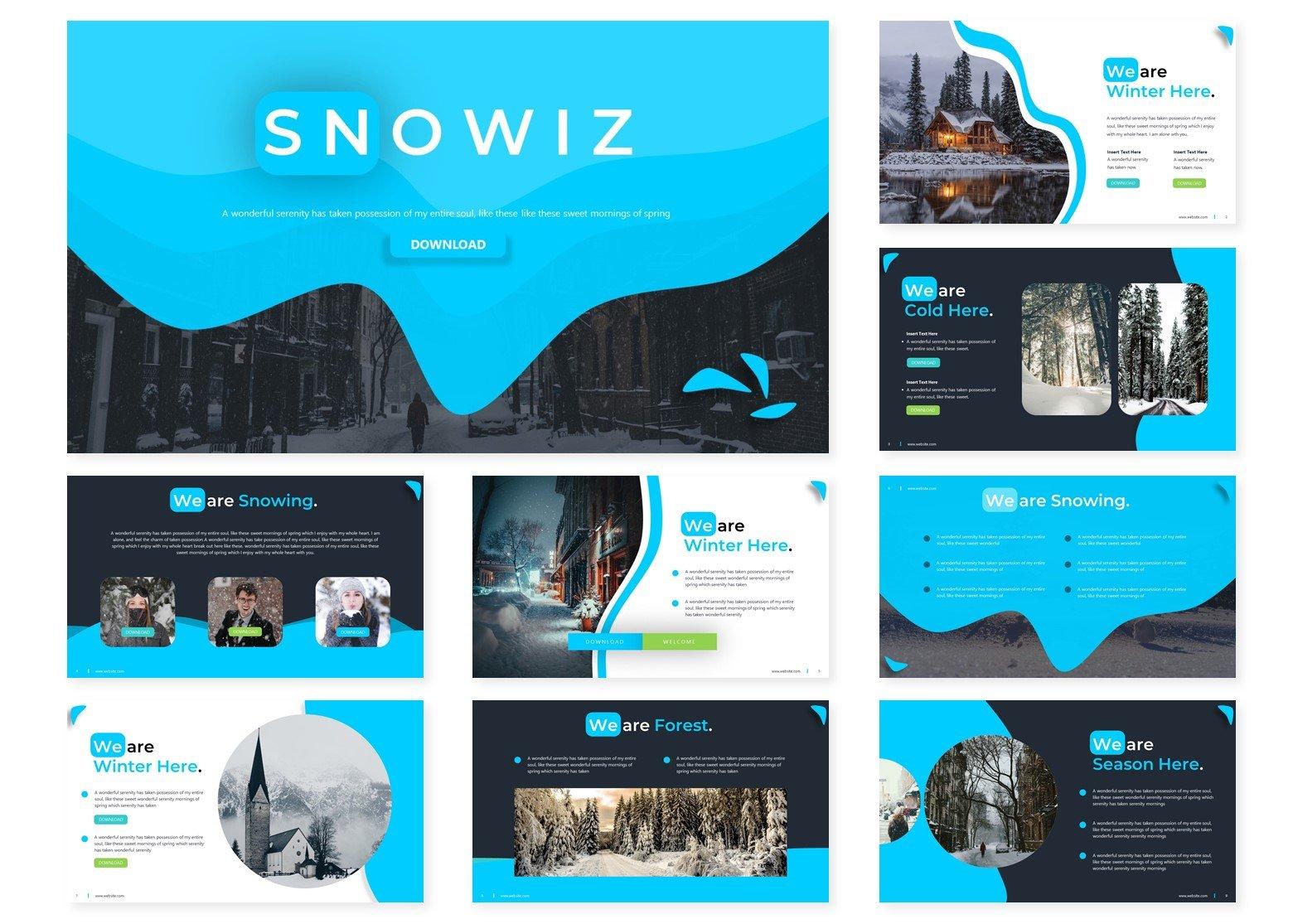 Snowiz PowerPoint Template