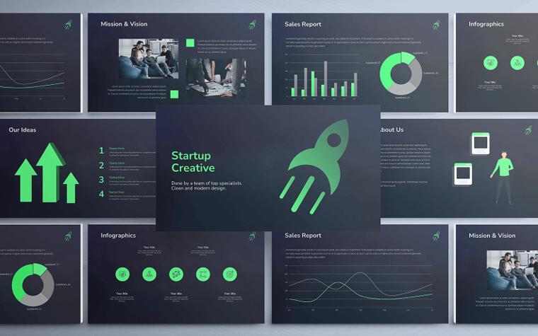 Startup Creative Pitch Deck Google Slides