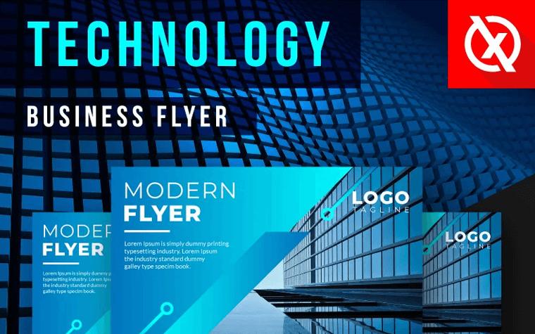 Stylish Digital Technology Flyer Corporate Identity Template