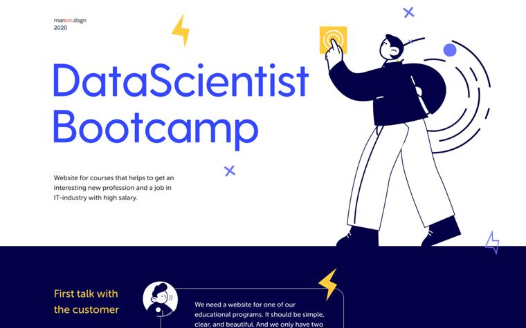 Website for DataScientist Bootcamp