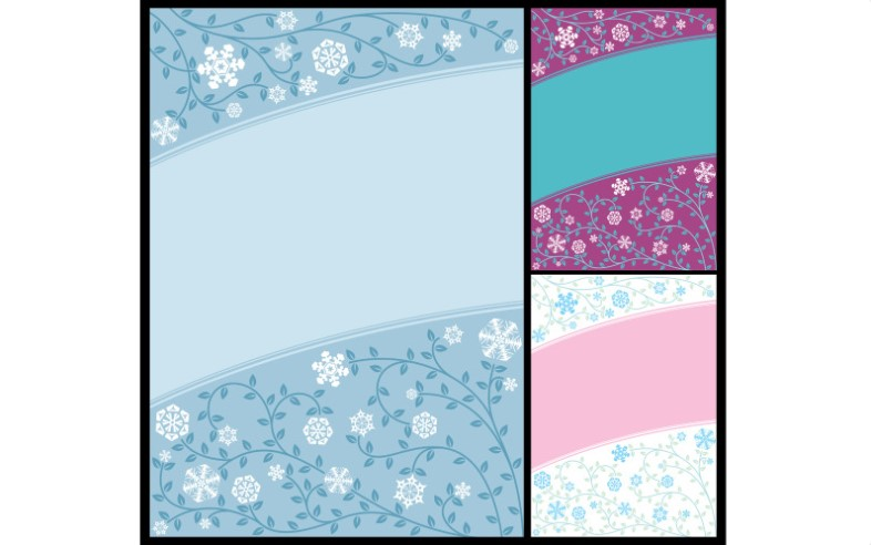 Abstract Winter Background Pattern