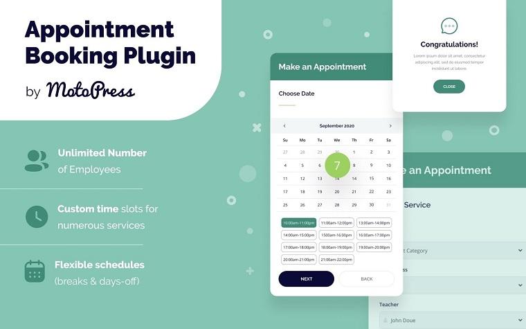 Appointment Booking WordPress Plugin.