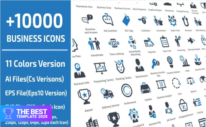 10000 Business Iconset Templateю