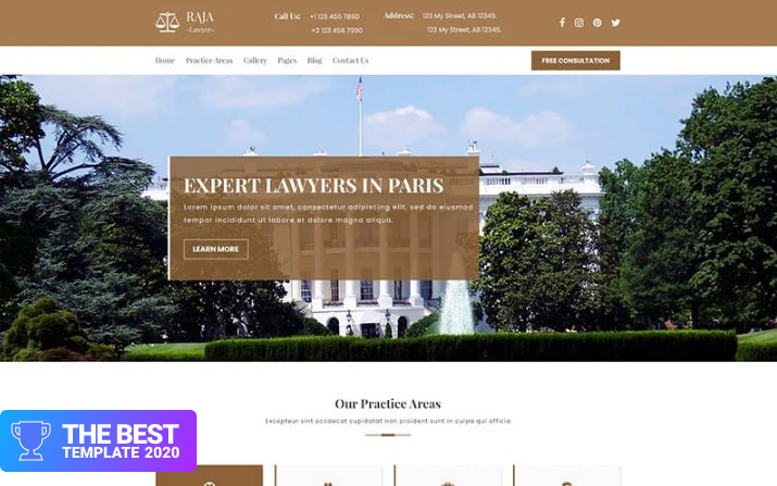 AJA   Law and Lawyer PSD Template.