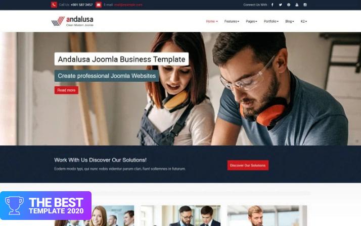 Andalusa Business-Corporation Joomla Template - digital products award