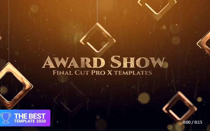 Award Show Final Cut Pro Template.