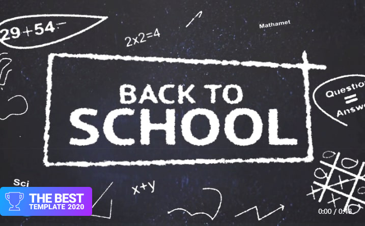 Back to school After Effects Template.