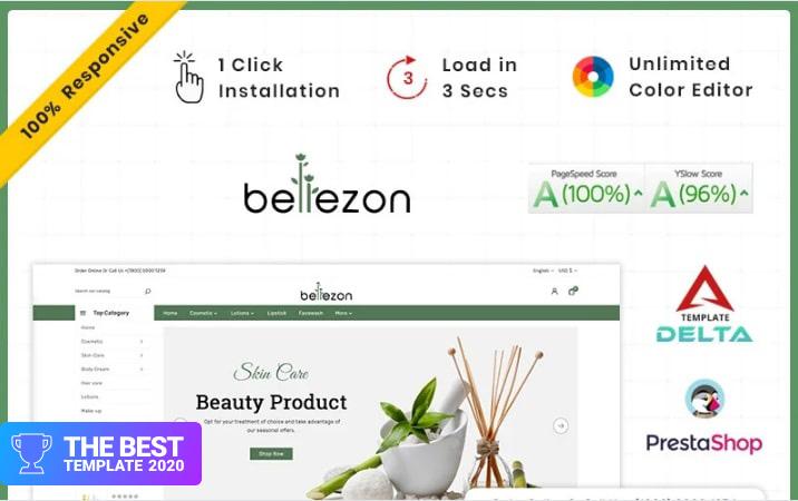 Bellezon Cosmetic - Costery Store PrestaShop Theme.