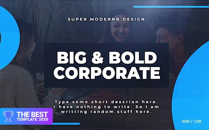 Big & Bold Corporate Final Cut Pro Template  - digital products award