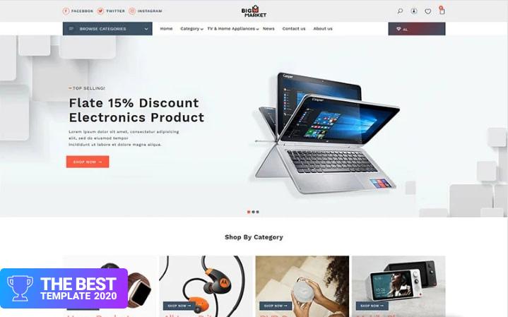 Bigmarket - The Electronics & Smartphones premium Shopify Theme.