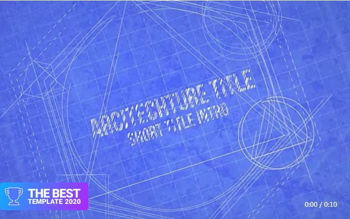 Blueprint Logo Reveal Final Cut Pro Template  - digital products award