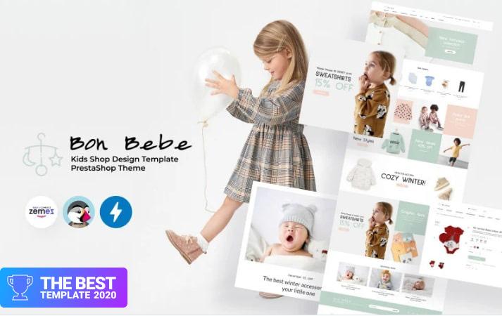 Bon Bebe - Kids Shop Design Template PrestaShop Theme.
