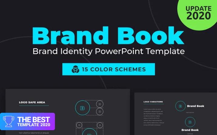 BrandBook Brand Identity PowerPoint Template.