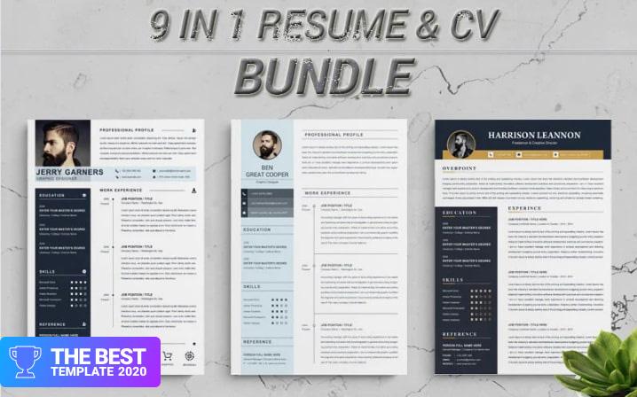 Bundle Resume Template - digital products award