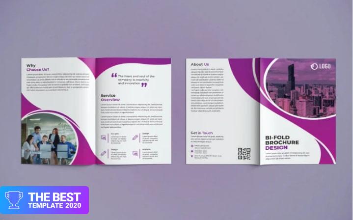 Business Bifold Brochure Design Corporate Identity Template.