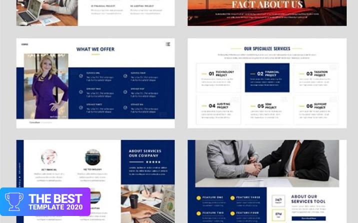 Business - Consultant Finance Google Slides.