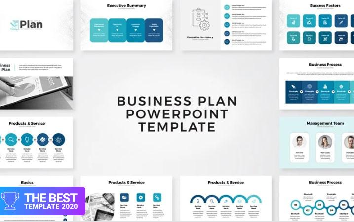 Business Plan Presentation PowerPoint Template.