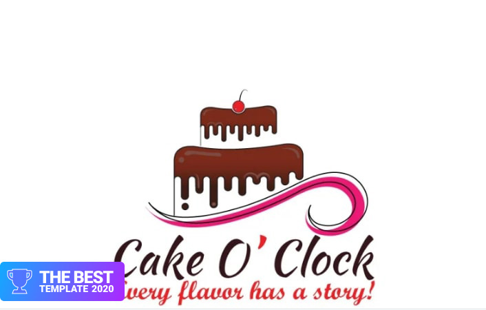 Cake Bakery Logo Template.