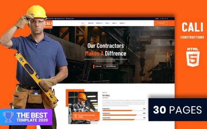 Cali Constructions   Construction & Tools Shop HTML5 Website Template.