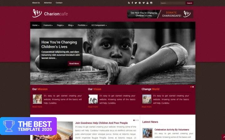 Charionsafe Charity Joomla Template - digital products award