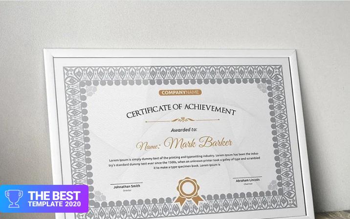 Classic Certificate Template - digital products award