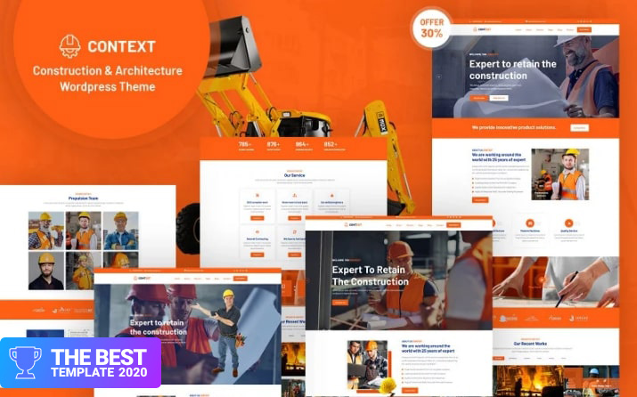Context - Construction and Architecture Responsive WordPress Theme best digital products