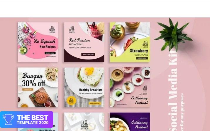 Cooq - Food Instagram Post Social Media - digital products award
