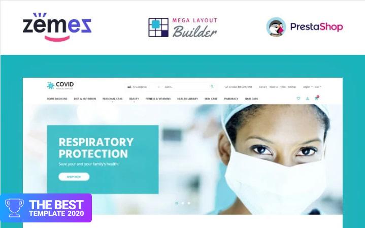 COVID - Medical Supplies eCommerce Template PrestaShop Theme.