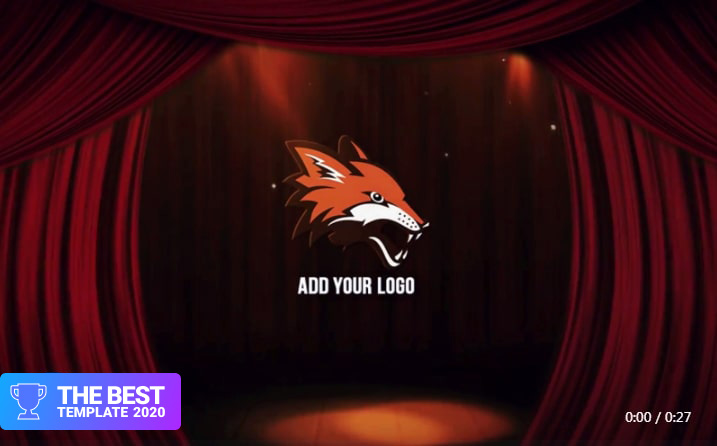 Curtain Logo Reveal Premiere Pro Template best digital products
