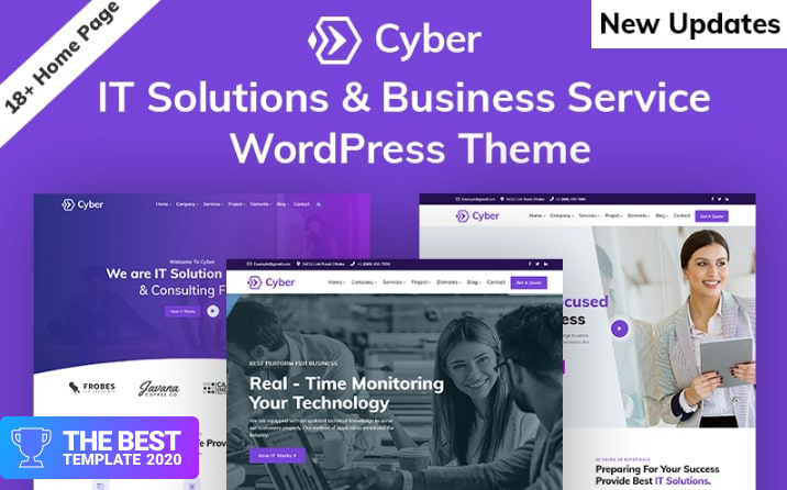 Cyber - IT Solutions & IT Startup WordPress Theme - best digital products