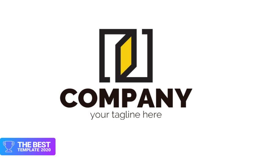 Door or window Logo Template.