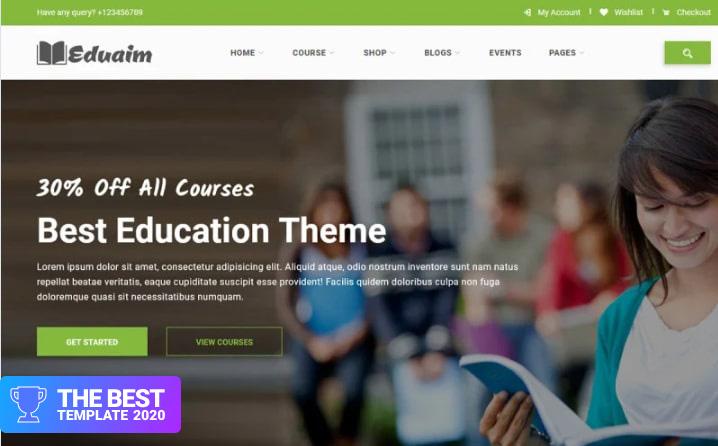 Eduaim - Education Website Template.